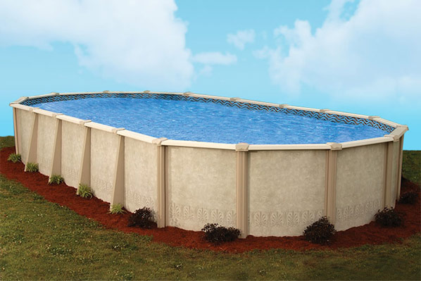 Pool productions above ground swimming pools doughboy autumn breeze for Doughboy above ground swimming pools