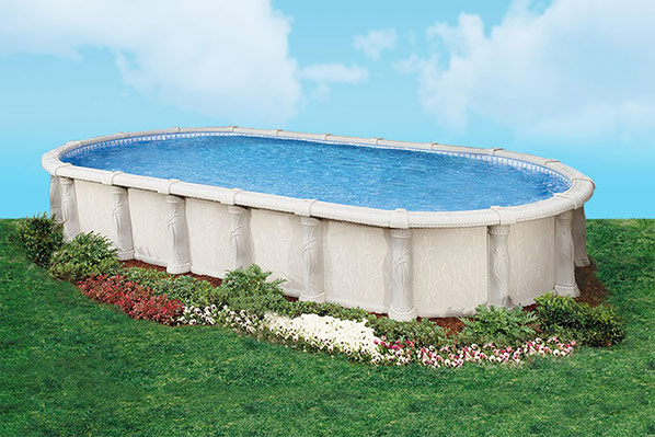 Pool productions above ground swimming pools doughboy - Luxury above ground pools ...